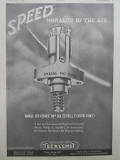 3/1946 PUB TECALEMIT AIRCRAFT MICRO PUMP DE HAVILLAND JET ENGINE ORIGINAL AD