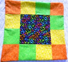 2 X Cushion Covers Patchwork Bright Retro  Floor Bed Sofa Bed BNWT
