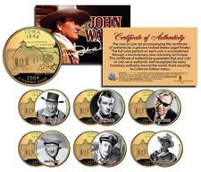 JOHN WAYNE MOVIES Colorized Iowa Quarters US 6-Coin Set * LICENSED * Stagecoach