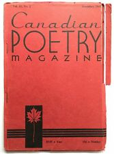 Canadian Poetry Magazine Vol 11, No 2 Dec 1947 - Includes 3 Malcolm Lowry poems