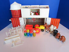 Vintage 1967 Fisher Price Play Family Farm Barn Silo #915 Complete & 1st Edition