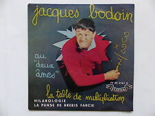 JACQUES BODOIN La table de multiplication FY 2161 Autre pochette