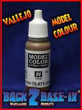 Vallejo Model Color Acrylic Paint 17ml Bottle Leather Brown 70871