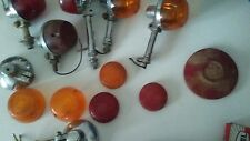 Vintage Chrome Car /Truck Marker Lights Signal lenses and parts lot
