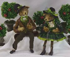 Fox Boy/Girl Posable Green Suit/Dress Raz Forest Frost fo 3202449 NEW SAVE