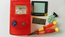 CARCASA COMPLETA COMPATIBLE GAME BOY COLOR POKEMON2 CLEAR RED+COLOR BUTTON NEW