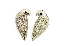 vintage retro antique style bronze parrot stud earrings