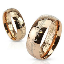 Lord of the Rings Gold, Black or Rose Gold Stainless Steel Ring, U.S. Shipping!