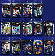 HUGE LOT 14 Star Wars Figures TRILOGY COLLECTION Vintage SAGA Clamshell OTC VOTC