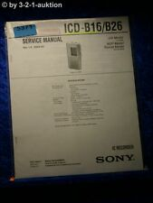 Sony Service Manual ICD B16 /B26 IC Recorder (#5371)