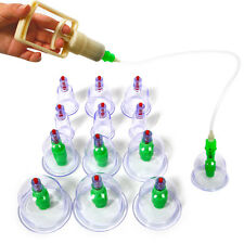 12 Cups Chinese Vacuum Cupping Therapy Body Massage Suction Pump Kit