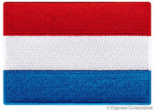 LUXEMBOURG NATIONAL FLAG PATCH LUXEMBOURGER iron-on EMBROIDERED SOUVENIR