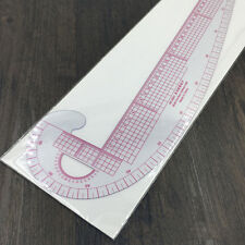 Styling Design  Plastic Ruler 3 In 1 French Hip Straight Curve Comma Ruler