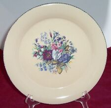 HOME & GARDEN PARTY FLORAL SPLENDOR DINNER PLATE S SPONGE STONEWARE