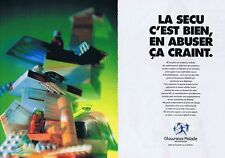 PUBLICITE ADVERTISING 025 1992 L'ASSURANCE MALADIE  (2 pages)