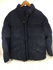 Men's Tommy Hilfiger Down Winter Puffer Coat Navy Blue Sz M