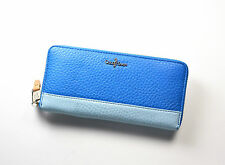 Cole Haan Crosby Colorblock Zip Around Wallet  Blue/Light Blue