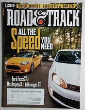 ROAD & TRACK CAR MAGAZINE 2012 NOVEMBER VW GTI FORD FOCUS MAZDA 3