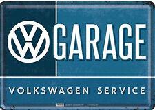 Nostalgic Art VW Garage Volkswagen Service Blechpostkarte 14 x 10 cm