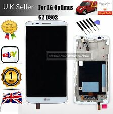 LCD Display Touch Screen Digitizer Lens Replacement For White LG Optimus G2 D802