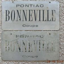 Pontiac Bonneville Coupe 50's dream, concept show car license plate pair GM Tech