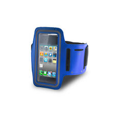 PORTACELLULARE AL BRACCIO ARMBAND SPORT CASE APPLE IPHONE 3G 3GS 4 4G 4S BLU
