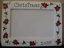 Christmas 2016 family holiday baby poinsettias holiday gift photo picture frame