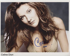 Celine Dion Signed 8 x 10 Photo Genuine In Person