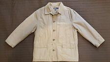 Polo by Ralf Lauren Mens Trench Coat Buttons Zip Khaki/Sand Cotton Nylon Size L