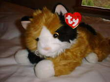 TY CLASSIC PLUSH - CARLEY The CALICO CAT Retired 2000 *EUC* ~Hang Tag Creased~