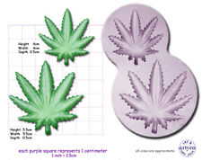 Marijuana / hash FOGLIA Piccolo / Medio Craft SUGARCRAFT FIMO SCULPEY Gomma in silicone