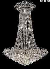 "Palace Blossom 36"" 15 Light Crystal Chandelier Light - Chrome"