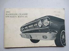 1965 Rambler Classic Owner's Manual - American Motors Corporation AMC
