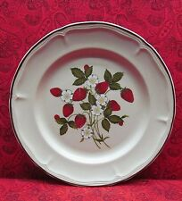 "VINTAGE 1983 NEWCOR STONEWARE SUSANNE DINNER PLATE STRAWBERRIES 10 5/8"" JAPAN"