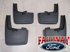 15 thru 17 F-150 OEM Genuine Ford Molded Splash Guards Mud Flaps with Wheel Lips
