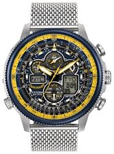 NEW CITIZEN ECO-DRIVE BLUE ANGELS NAVIHAWK A-T STAINLESS STEEL JY8031-56L