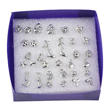 18PCS/Set Women Girls Mix Styles Fashion Silver Plated  Stud Earrings