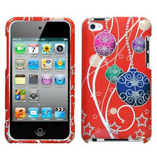 For Apple iPod Touch 4 HARD Protector Case Snap on Cover Xmas Ornaments