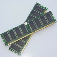 2GB KIT 2x1GB PC3200 DDR400 184pin Dual Channel DIMM DDR1 Low Density Memory NEW