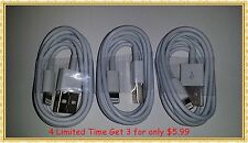 3 x 3ft/1m AC Power Cord & Data Cable Sync Cord For iPhone 5 5S 5C iPod 6