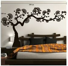 Asmi Collections PVC Wall Stickers Black Bonsai Tree