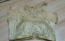 Blouse Ready Made Wedding Party Wear Indian Designer Saree Stitched Crop-Top