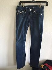 AUTH True Religion Jeans Section Billy Super T Seat Size 24 Authentic Low Rise