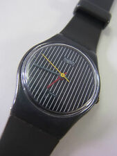 LA100 Swatch 1984 Miss Channel - Miss Pinstripe Ladies Swiss Made Authentic