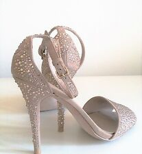 Ladies Zara Basics Diamante Stiletto Sandals Size UK6 EU39