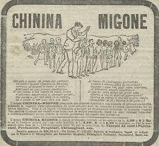 W3431 CHININA MIGONE - Pubblicità 1910 - Advertising