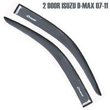 2 DOOR ISUZU DMAX D-MAX 07-11 BLACK SMOKE DARK WIND SHIELD AIR GUARD RAIN VISOR