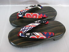 Japanese HITA CEDAR GETA Yukata Kimono Sandals  #8322-25 size L for women