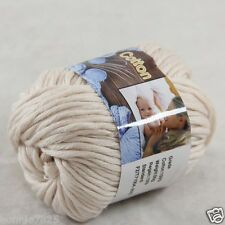 Sale New 1 Skein x 50g Soft Pure Cotton Chunky Super Bulky Hand Knitting Yarn 31