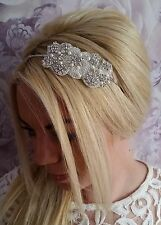 Vintage Pearl Crystal Sparkling Headband Tiara Bride Maid Chic Wedding Hair